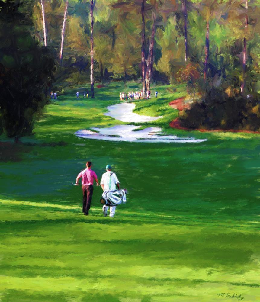 Masters golf painting | Sports artist Mark Trubisky | Custom Sports Art