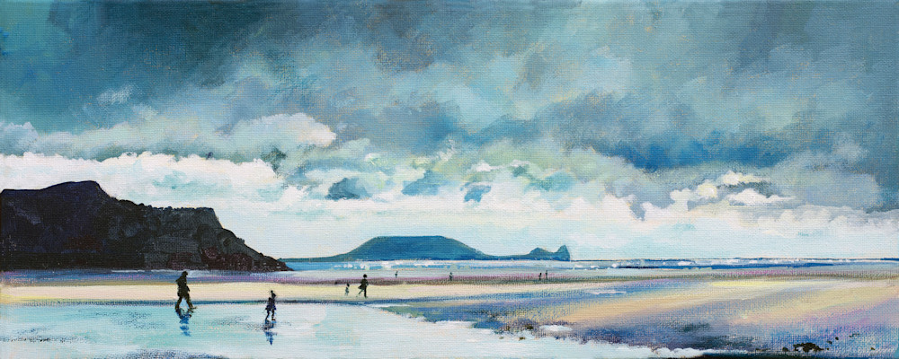 Storm Over Rhossili Art Print