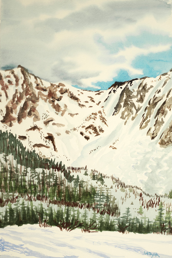 Headwall of the Chic Chocs, Canada Ski Art for Sale