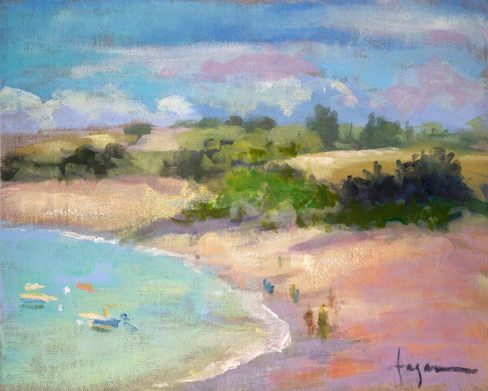 French Beach Landscape Print on Canvas or Paper Touesse Cove by Dorothy Fagan