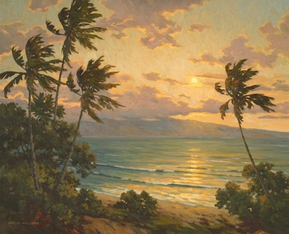 Sunset over Lanai by Daryl Millard