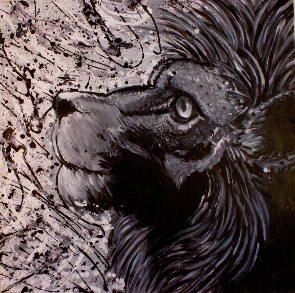 Hopeful Lion Art | Art by Trev: Trevor Griffin Fine Art