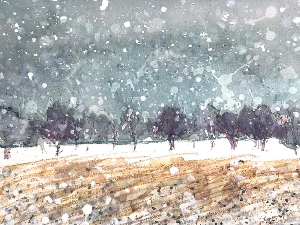 Giant Snow Flakes. Spring Snow.