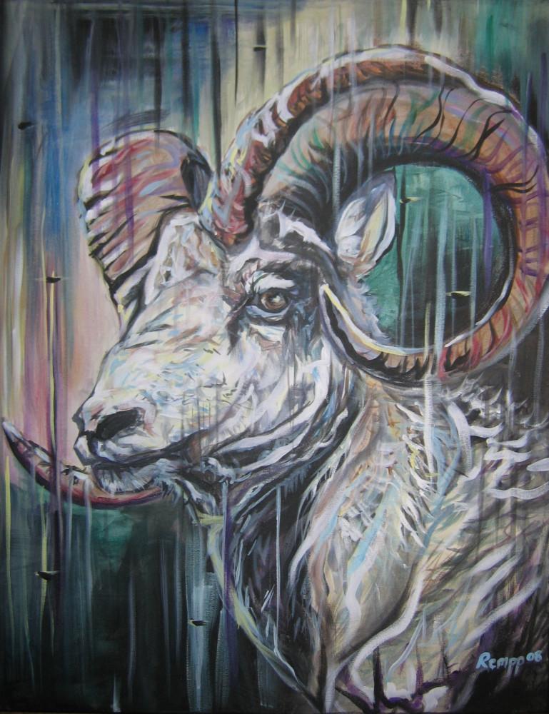 Big Horn Sheep Art | Amy Keller Rempp Art