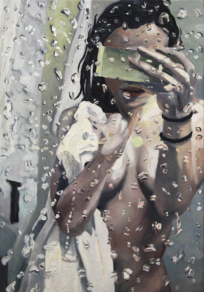 Art Print - Mirror Selfie Painting For Sale - Wet Paint NYC