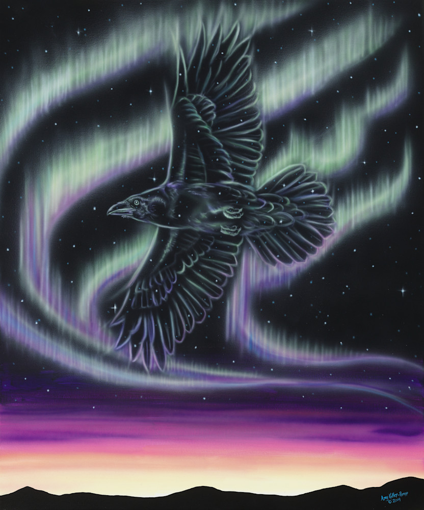 Sky Dance   Raven Art | Amy Keller Rempp Art