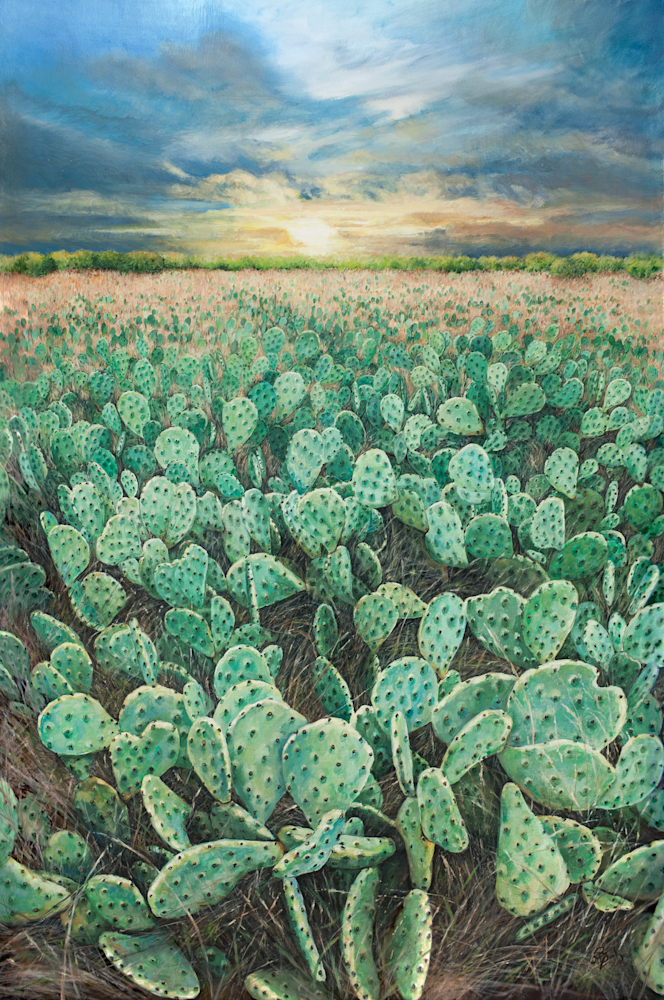 Palo Pinto Prickly Pear Print