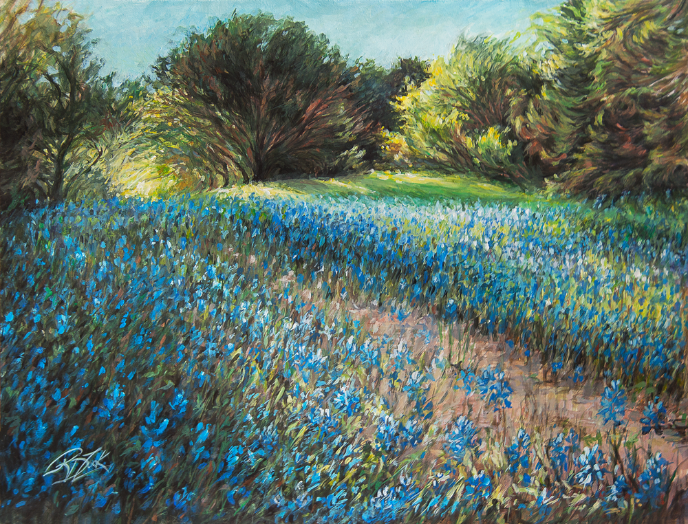 Path Through the Bluebonnets Print
