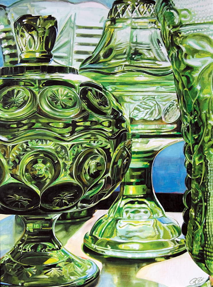 Green Glass Print