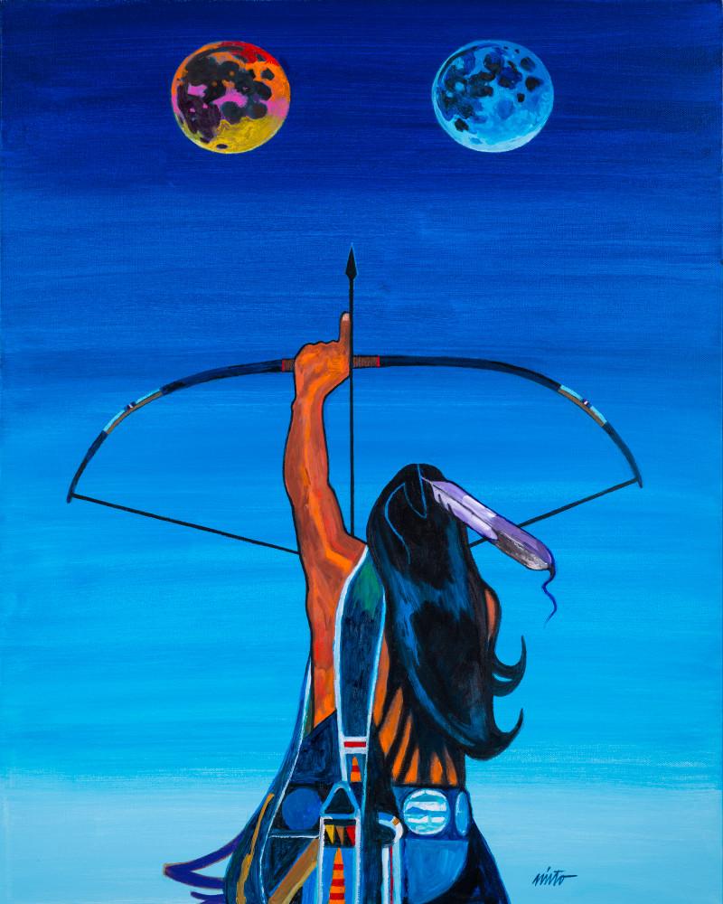 Two Moons   John Nieto Art Open Edition Giclee