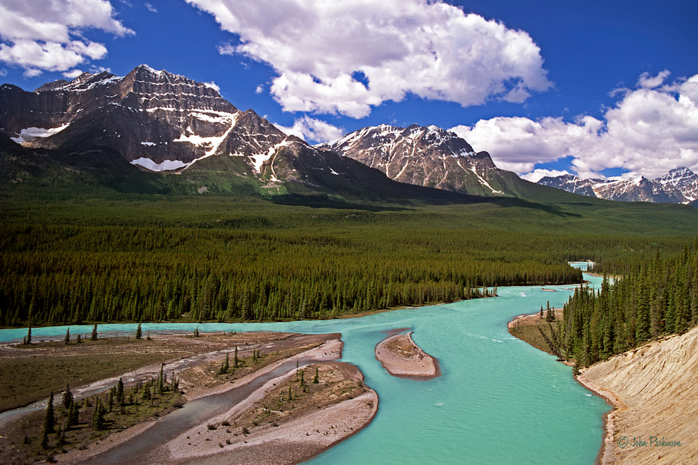 The Athabaska River, Jasper National Park, Montana