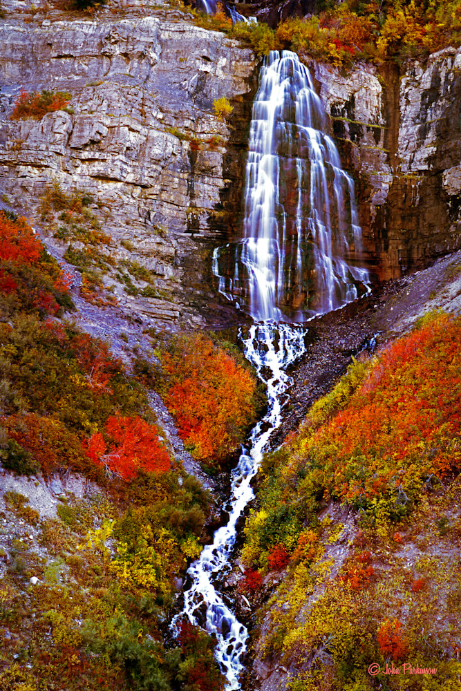 Bridal Veil Falls, in Provo Canyon, Utah in Autumn