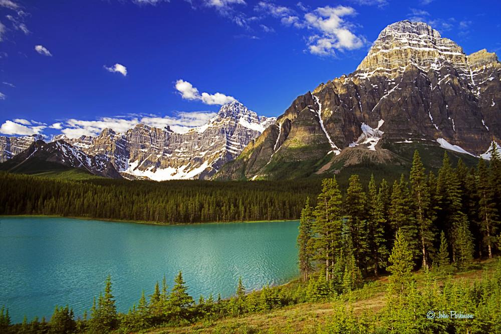 Mount Chephren in the Mystaya Valley of Banff Natonial Park