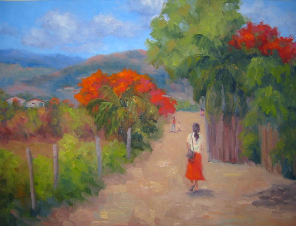 Senorita In A Red Skirt Art | B. Oliver, Art