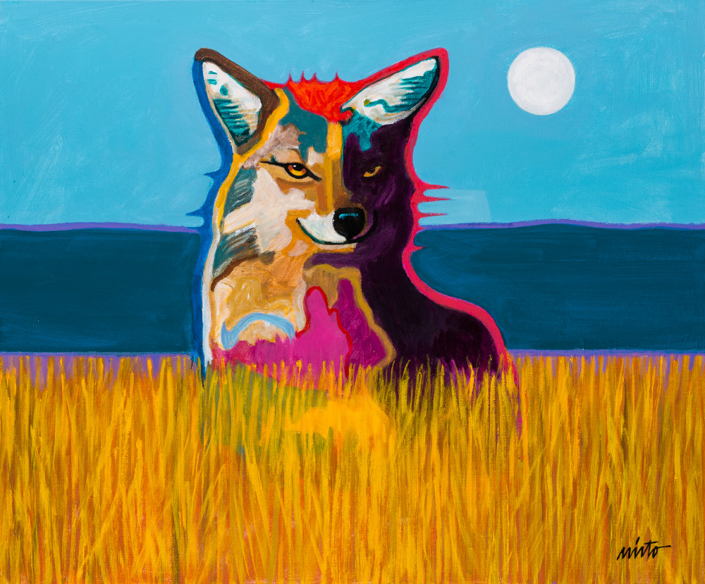 Coyote in a Field | John Nieto Art Reproduction
