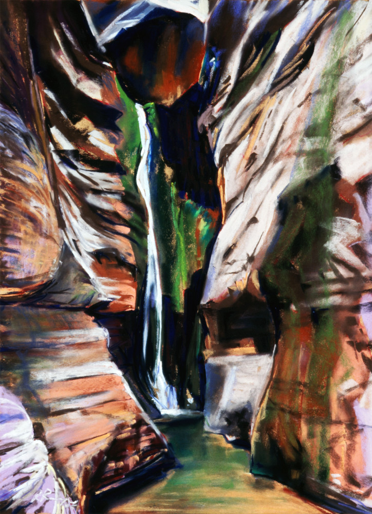 landscape painting grand canyon side canyon