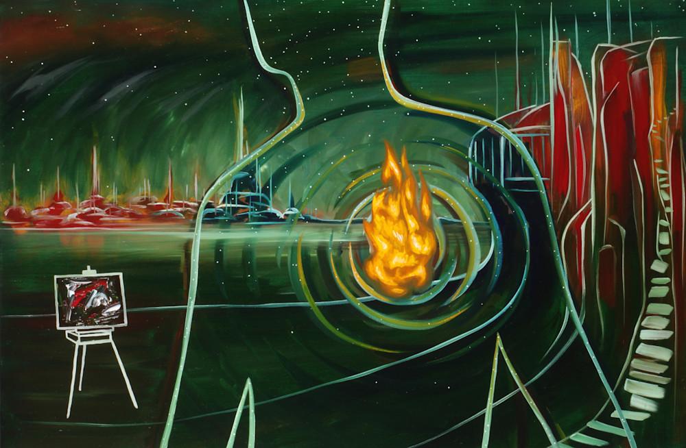 """""""Heartfire"""" Surrealistic Art for Sale"""