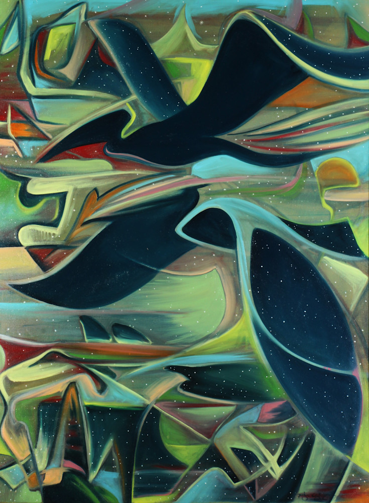 Abstract Pelicans Art for Sale