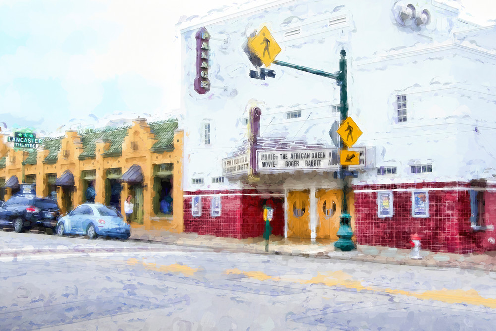 Photographs of Grapevine Texas Historic Main Street Palace Theater, Abstract Horiz