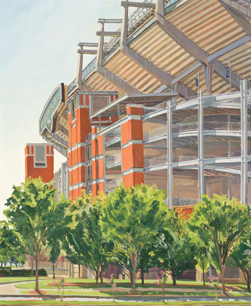 Morning at the Stadium / Print