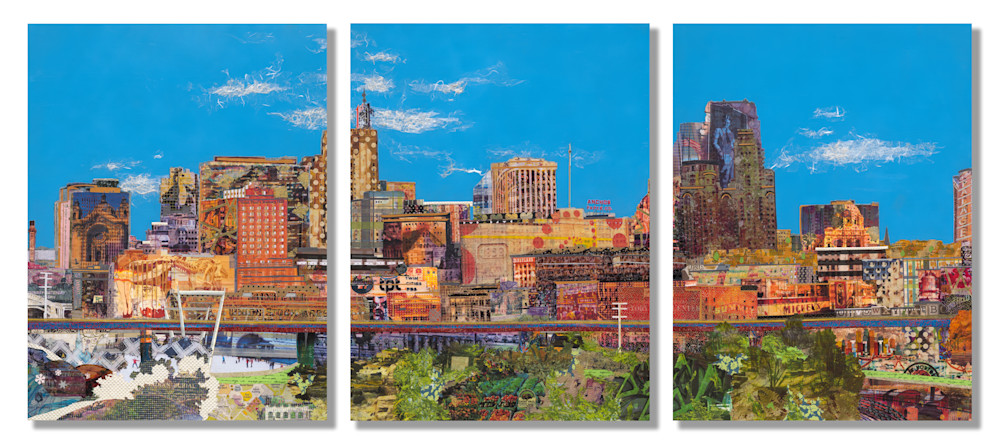 St. Paul Skyline (Triptych) Art | Made by Kristi