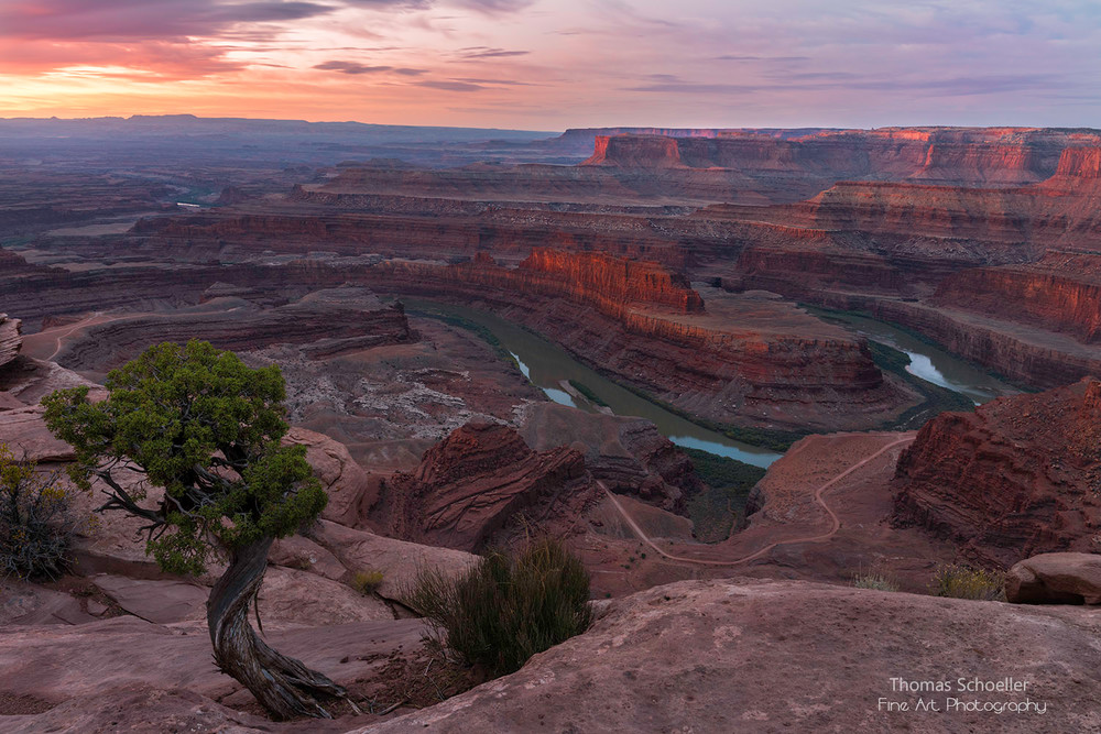 Dead Horse Point sunrise/Canyonlands NP Utah fine art photography luxe prints by Thom Schoeller