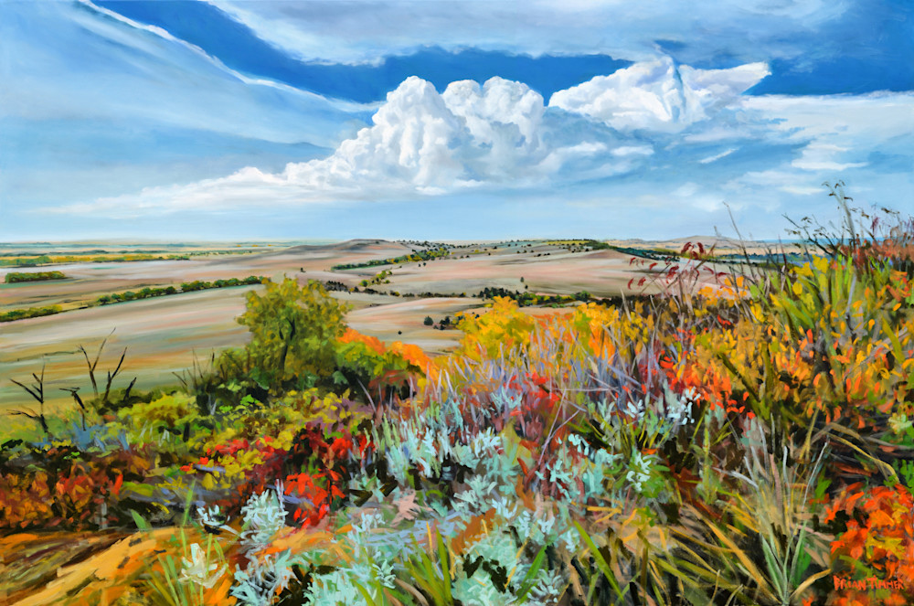 Flint Hills VI  - Oil Painting