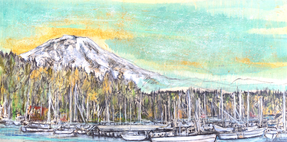 Gig Harbor with Mt. Rainier