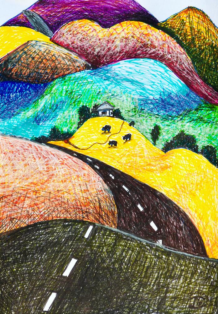 Californian Hills - Fine Art Prints on Canvas, Paper, Metal & More by Irina Malkmus
