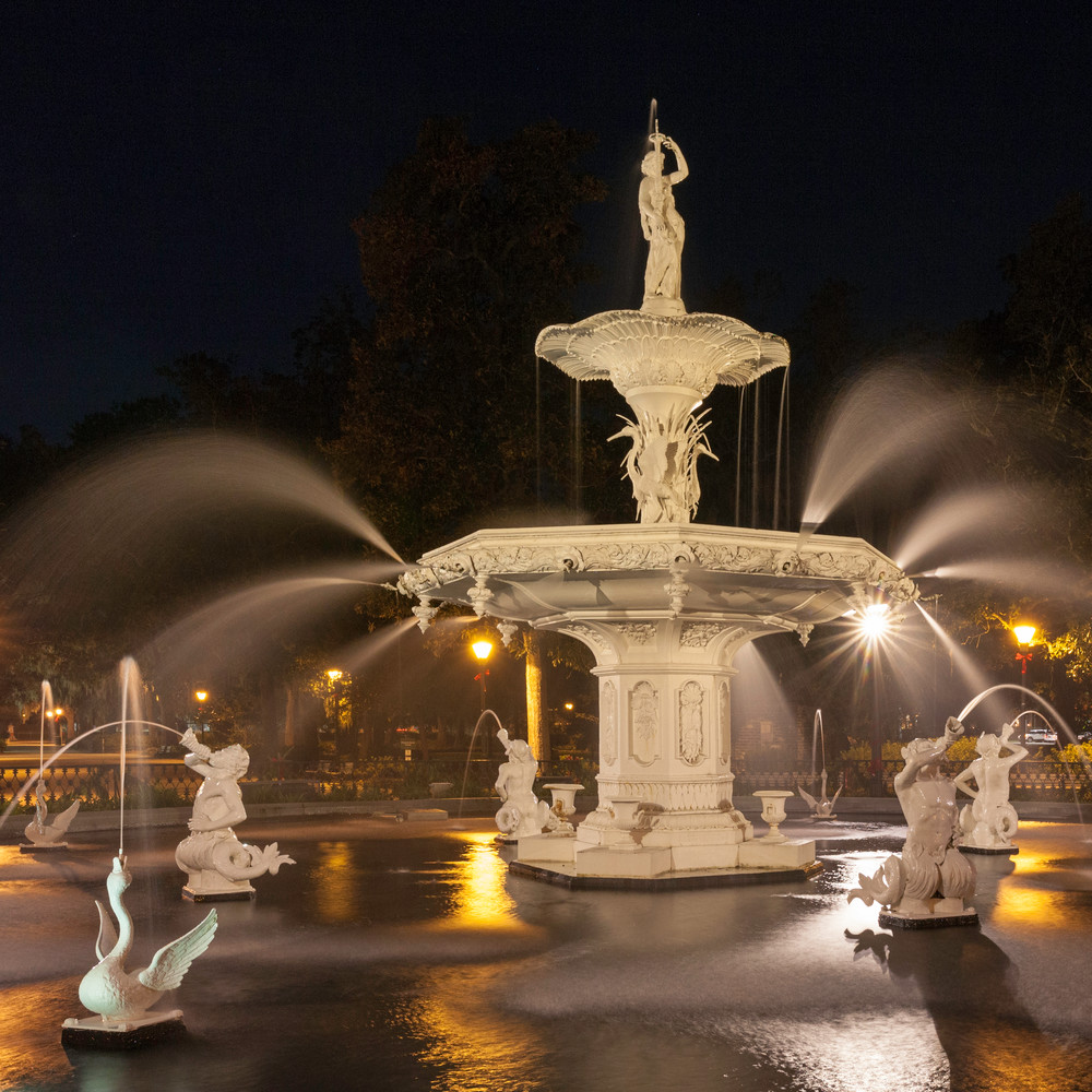 Forsyth Fountain at Night - Right