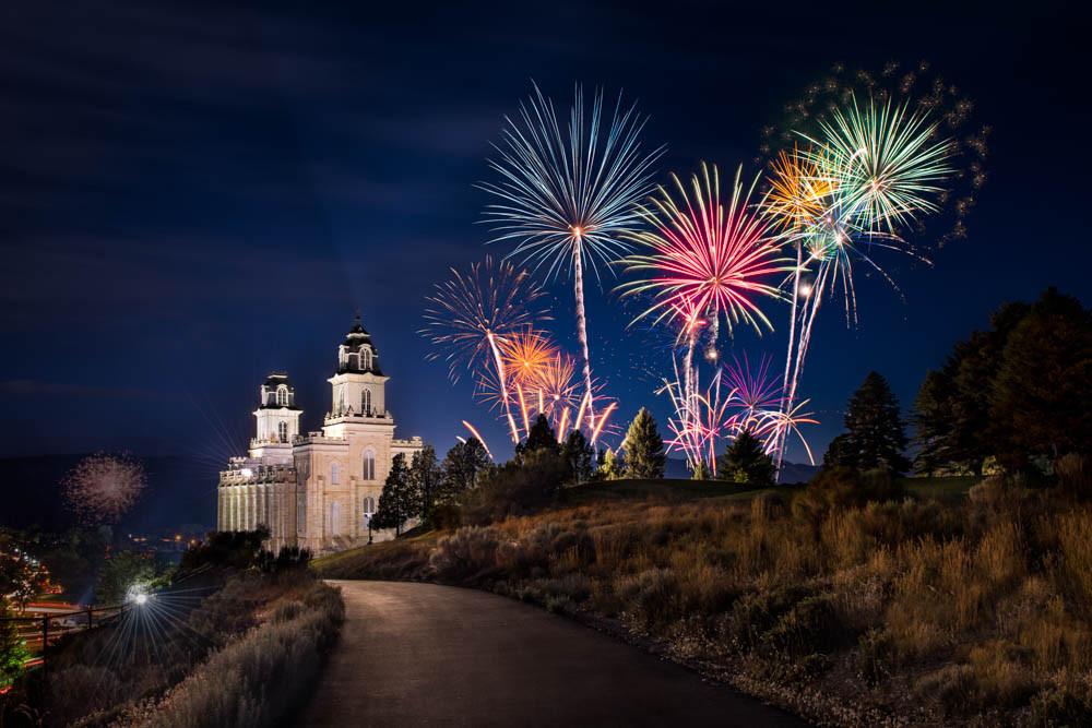 Manti Temple - Fireworks