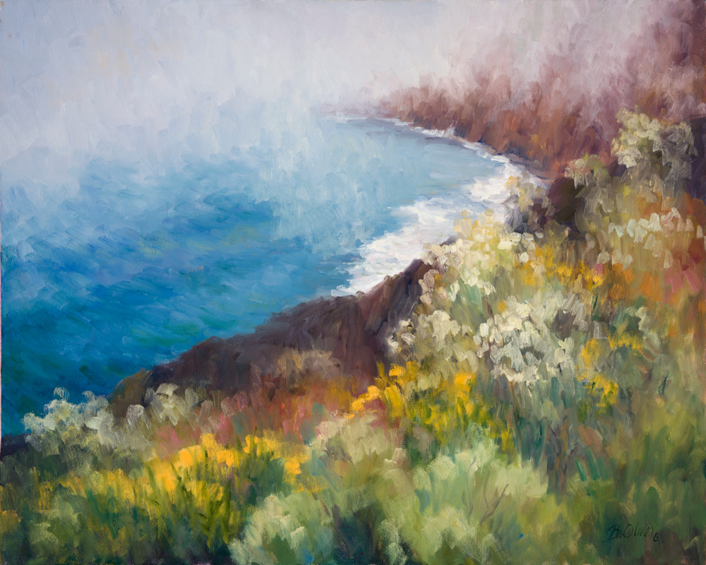 Foggy Shore Art   B. Oliver, Art
