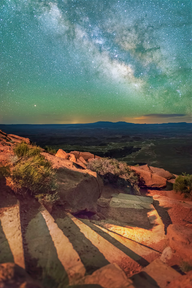 Stairs to the Grand View at Canyonlands National Park