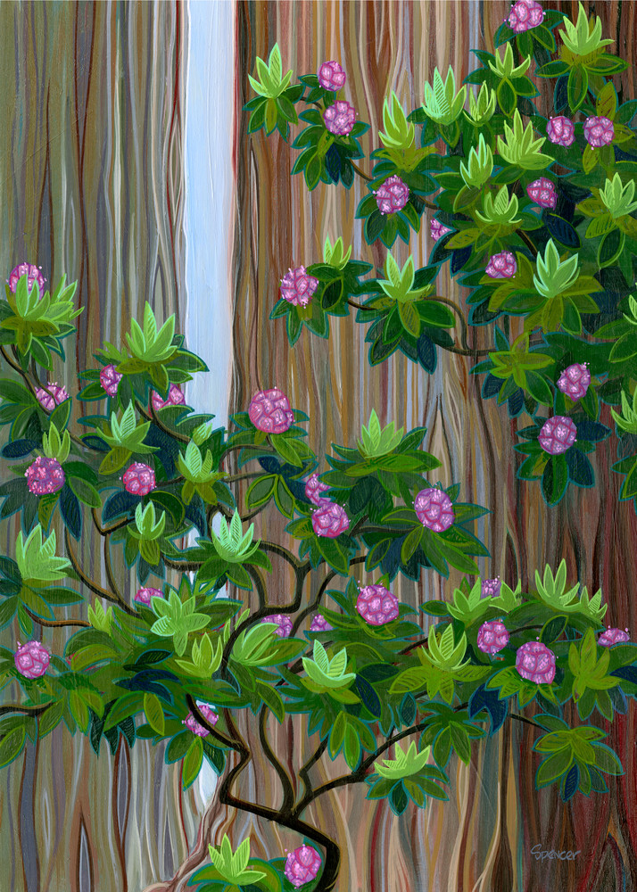 Rhodies Painting by Spencer Reynolds