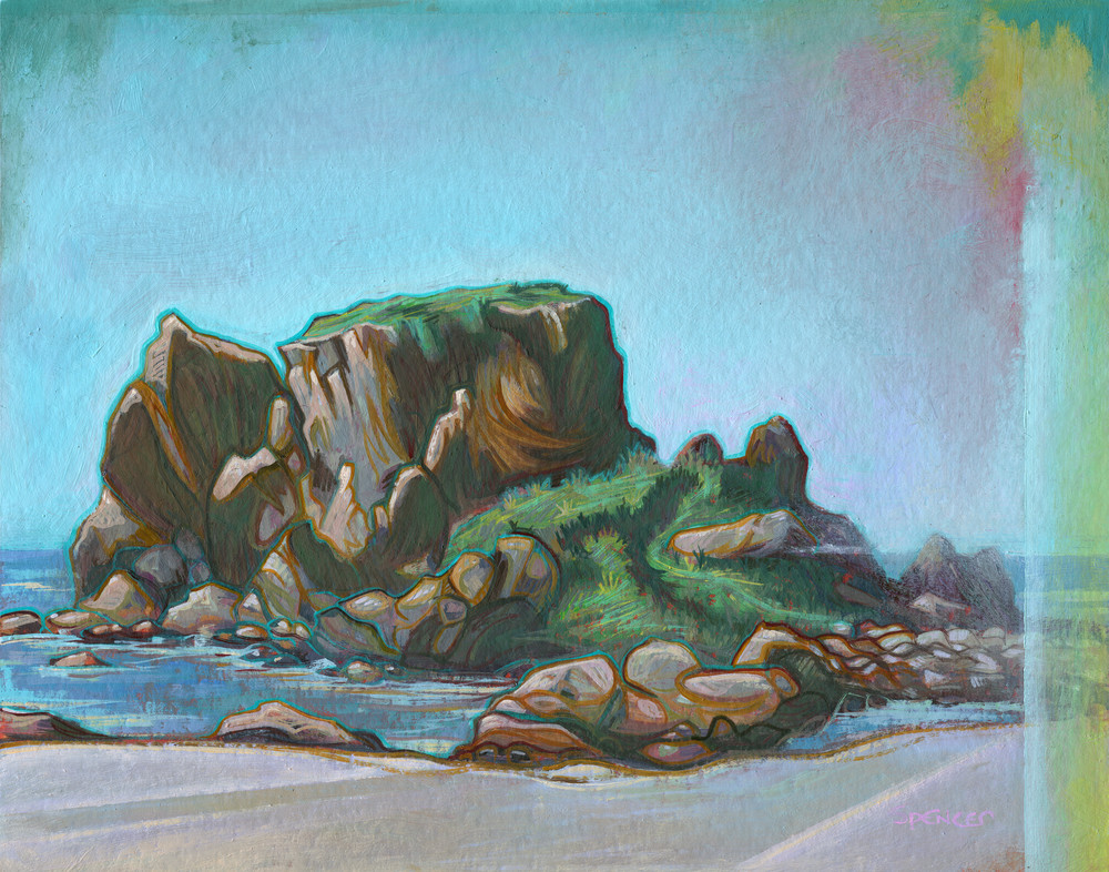 South Harris Painting by Spencer Reynolds