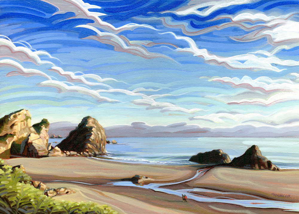 Summer at Harris Painting by Spencer Reynolds