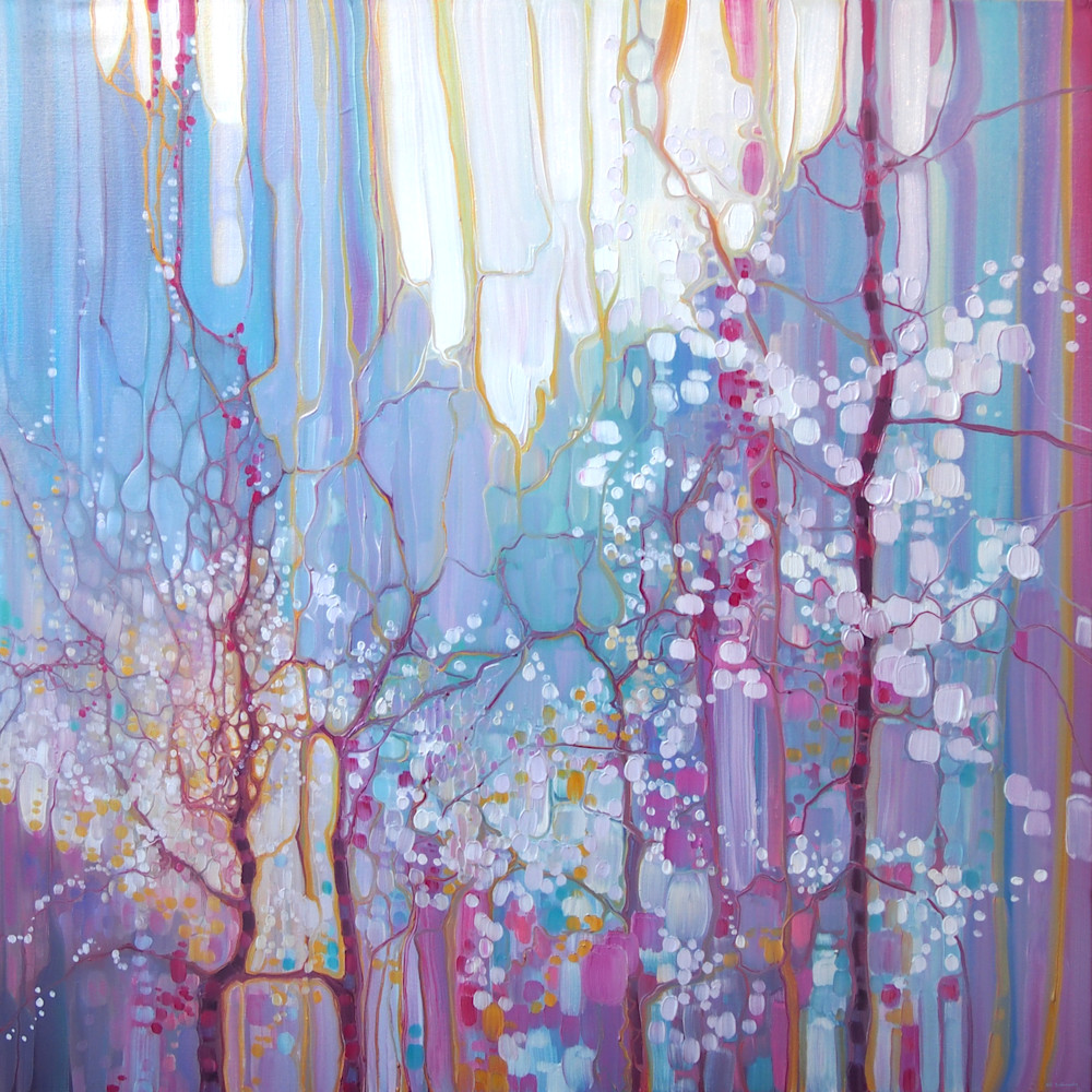Print of The Dryad's Tree - a spring blossom abstract landscape