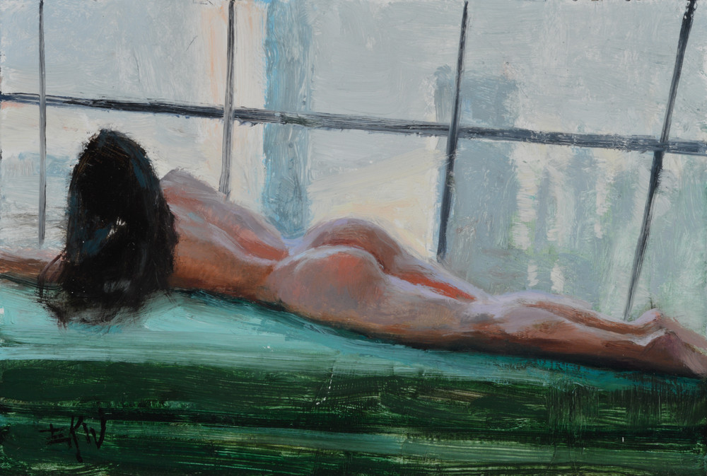 """High Society Nude"" print by Eric Wallis"