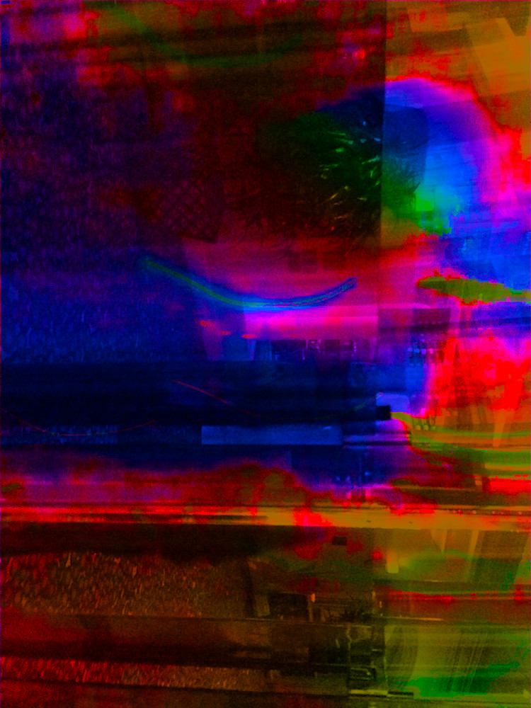 A Photomontage with a Splash Of Color. Large Wall Art.
