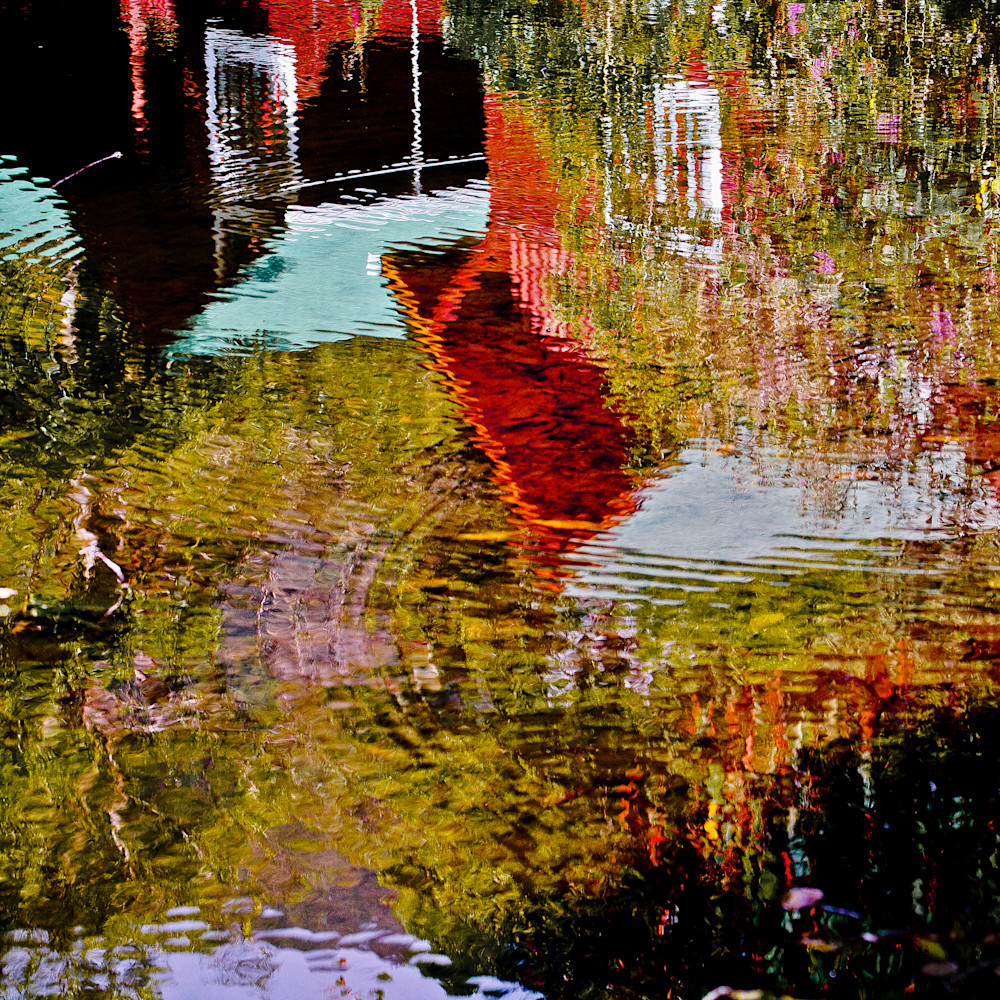 Photographic Wall Art, Reflections on Water of A House.