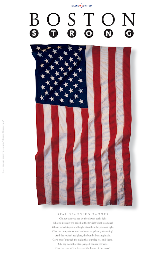 Boston Strong Star-Spangled Banner American Poster
