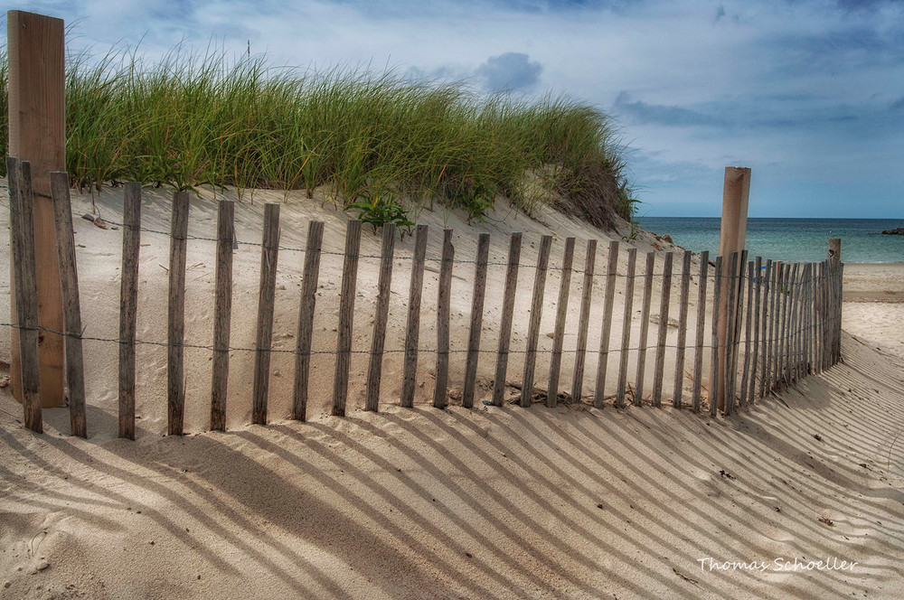 Cape Cod Nautical Seascape/Sand dune fencing fine art photography b Thom Schoeller