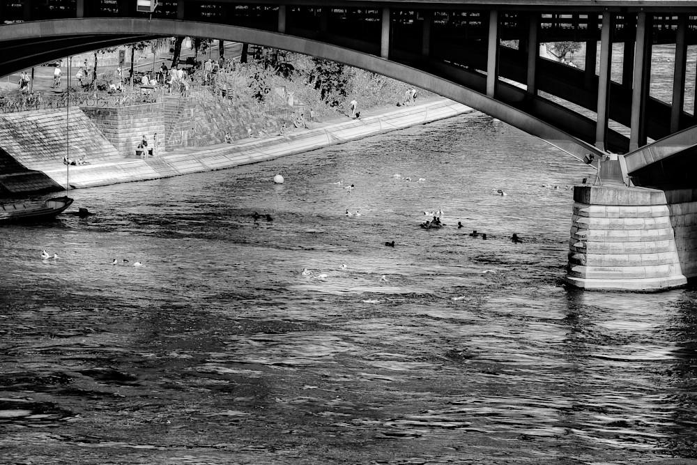 River swimming in Basel