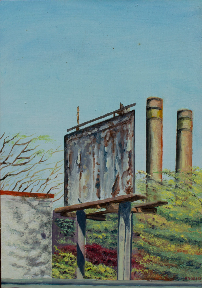 Power Plant Oil Painting