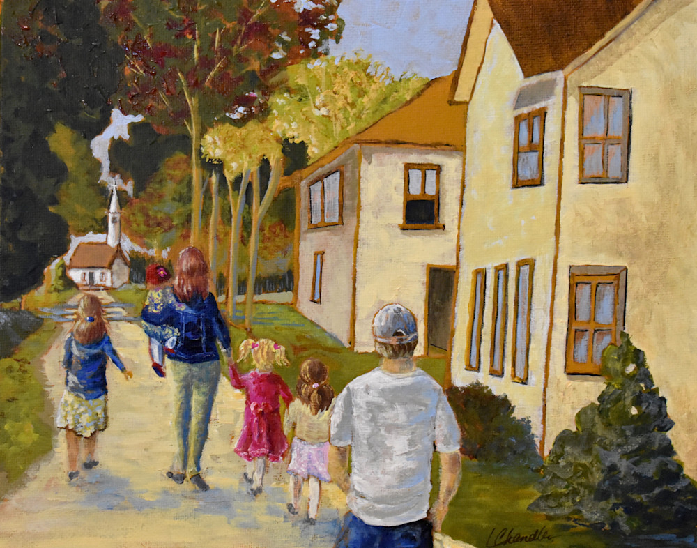 Off To Church Art | lesliechandlerarts