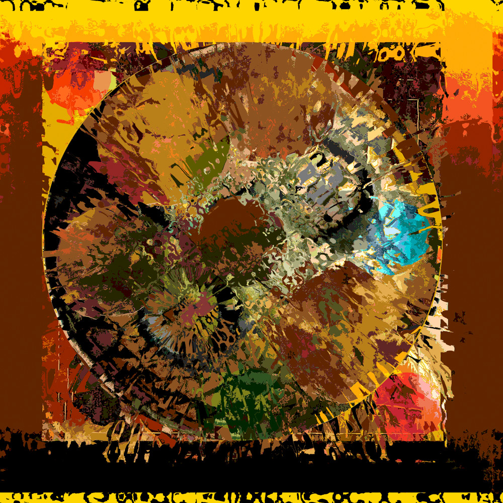 African inspired earthy colors digital collage painting / Khrysso Heart LeFey / Serengeti / Affordable quality prints in custom media