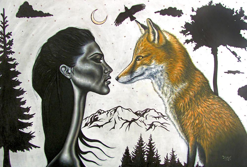The Wild surrealism art print