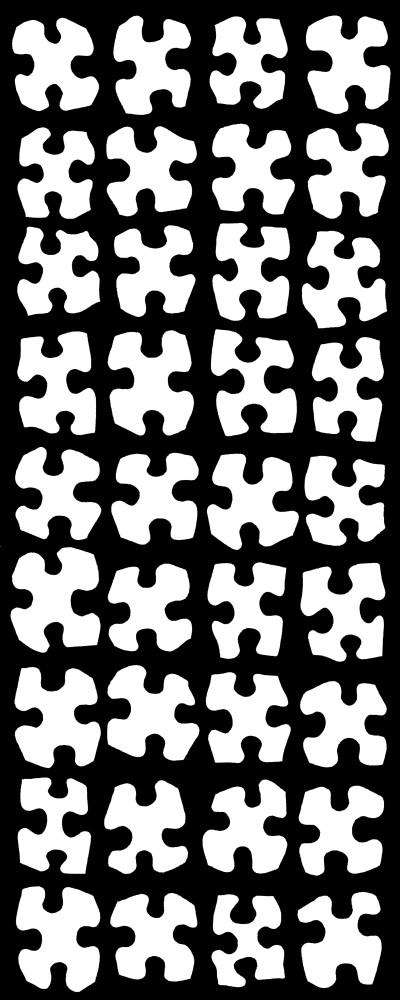 black and white art, graphic fine art, 36 White Quatrefoils, Khrysso Heart LeFey, jigsaw puzzle art