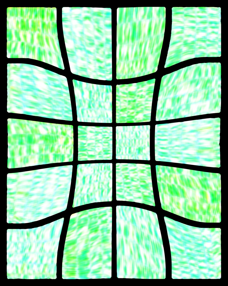 Cool ocean abstract digital collage / Fine art by Khrysso Heart LeFey / Curved Basketweave II in Green / Affordable quality prints in custom media