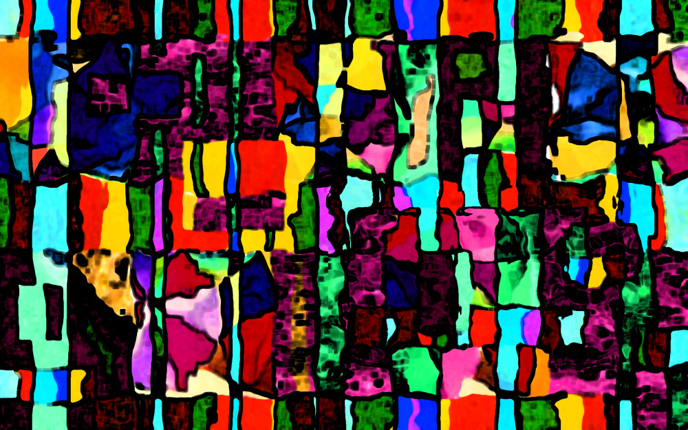 Exciting bright colors abstract digital collage / artist Khrysso Heart LeFey / Beach Towel 1d / Affordable quality prints in custom media